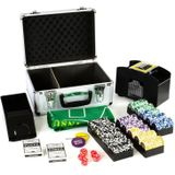 Luxe professionele casino pokerkoffer complete pokerset 300 chips +