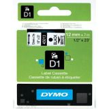 DYMO D1 -Standard Labels - Black on White - 12mm x 7m