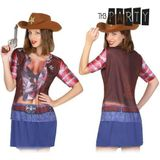 Adult T-shirt Th3 Party 8270 Cowgirl